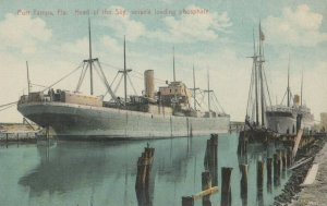 PORT TAMPA , Florida , 1900-10s ; Ships Loading Phosphate