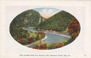 Pennsylvania Delaware Water Gap View Looking East From Winona Cliff
