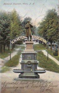 New Hampshire Weirs N H Veter Memorial Fountain 1906