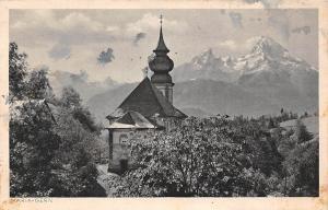 Maria Gern mit dem Watzmann Kapelle Chapel Mountain