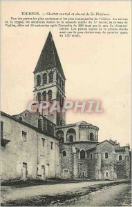 Old Postcard Tournus Central Tower and St Philibert Bedside