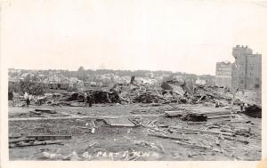 D34/ Fergus Falls Minnesota Mn Real Photo RPPC Postcard 1919 Tornado Disaster