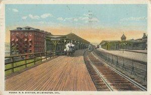 WILMINGTON, Delaware, 1922 ; Penna Railroad Train Station