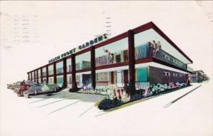 New Jersey Atlantic City Beach Front Gardens Motel 1956