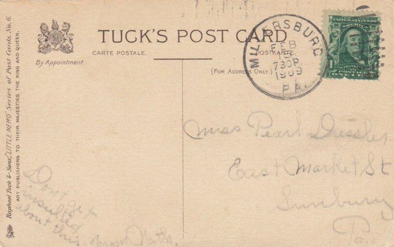 TUCK #6: FANTASY; Valentine, PU-1909; LITTLE NEMO Series, Princess meeting Doc