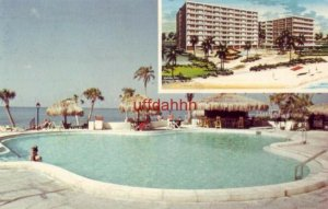 HOLIDAY INN Of CLEARWATER BEACH, FL. view of pool facing the Gulf of Mexico 1974