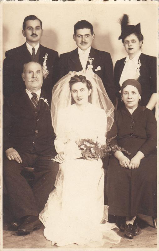 EASTERN EUROPE 1942 WEDDING MARRIAGE PHOTOGRAPHY BRIDE & GROOM
