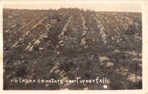 Ardmore Oklahoma Turner Falls Indian Cemetery Real Photo Postcard K106105
