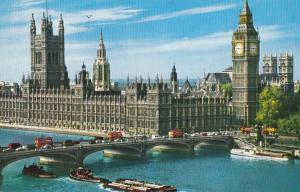 United Kingdom, London, Houses of Parliament, 1967 used Postcard