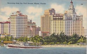 Florida Miami Deep Sea Fishing Boat Returning From The Gulf Stream 1940