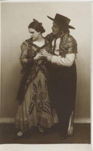 Sad or Unhappy Studio Portrait of Man and Woman ~ RPPC Postcard