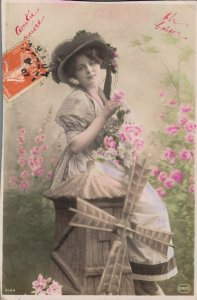 Victorian Style Art Nouveau Woman Postcard Lot of 8    01.18