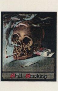 AUGUST HUSTAF , 1900-10s ; Still smoking ; Skull