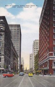 Main Street looking North from Ninth Street, Fort Worth, Texas, 30-40s