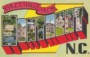 Large Letter Greetings , MONTREAT , North Carolina , 30-40s