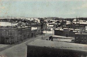 LPS62 GREENE Iowa Town Aerial View Postcard