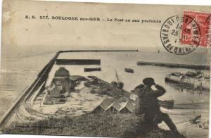 CPA BOULOGNE-sur-MER - Le Post en eau profonde (180784)