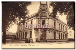 Old Postcard Bank Laval Caisse d & # 39Epargne