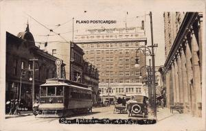 EL PASO, TEXAS SAN ANTONIO STREET, EARLY 1900'S RPPC REAL PHOTO POSTCARD