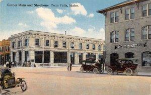 Twin Falls Idaho Corner Main and Shoshone Drug Store Vintage Postcard AA18647