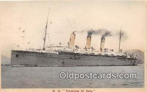 SS Empress of Asia  Ship Postcard Post Card Postcard Post Card SS Empress of ...