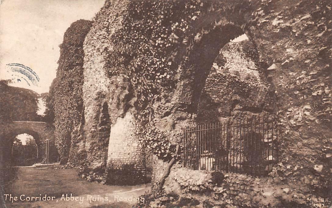 Carte Reading Angleterre.England Reading Abbey Ruins Corridor 1916 Hippostcard