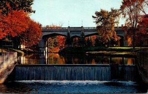 Michigan Petoskey Showing Weir Below The Power Dam