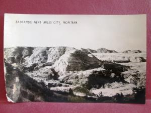 Postcard MT Badlands Near Miles City Montana RPPC Real Photo