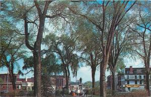 Keene New Hampshire~Central Square~Soldiers Monument~Olson's~Paints~1960s PC