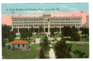 St James Building & Hemming Park , Jacksonville , Florida ,  PU-1911