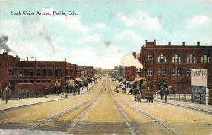 Pueblo Colorado~South Union Avenue~Drink Walter's~2nd Class~Wagon~1908 Postcard