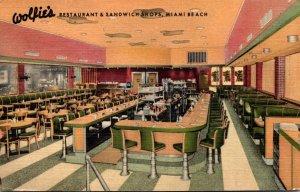 Florida Miami Beach Wolfie's Restaurant & Sandwich Shops Curteich