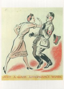 Just A Good Afternoons Work Adolf Hitler Advertising Postcard