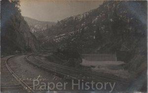 c.1907 Floriston Mill Dam CA RPPC Ghost Town Near Tahoe, Reno UNIQUE California