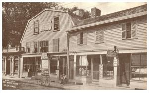 Massachusetts Salem ,  Side View old Witch House ,  J.N.Gould Plumber, C.Marc...