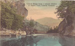 BOLTON FALLS, Vermont, 1900-1910s; Camels Hump From A Natural Window