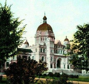 Vtg Postkarte 1907 Blick Auf Parlament Gebäude - Victoria BC Kanada