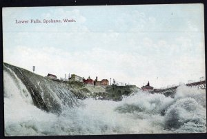 Washington SPOKANE Lower Falls Pub by Spokane Post Card Co. - Divided Back