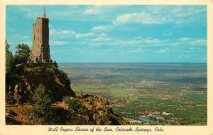 Will Rogers Shrine of the Sun Colorado Springs Co Postcard