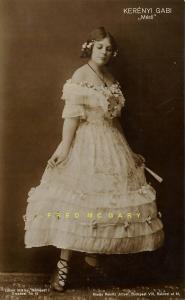 1912 Hungary Real Photo Postcard: Film Actress Kerenyi Gabi