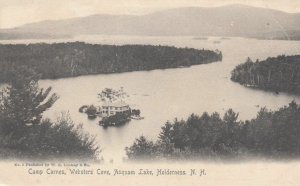 HOLDERNESS, New Hampshier, 1901-07; Cam Carnes, Websters Cove, Asquam Lake