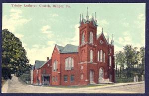 Trinity Lutheran Church Bangor PA unused c1910's
