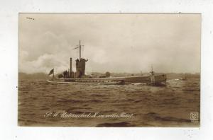 Mint Pre WW2 Germany Navy Real Picture Postcard U Boat 10 Submarine at Sea