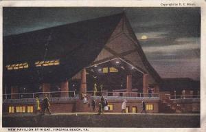 New Pavilion at night , VIRGINIA BEACH , Virginia , 1910s