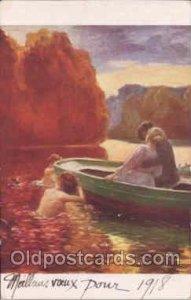 Artist Renouard, Mermaid, Mermaids Artist Renouard Writing On Back