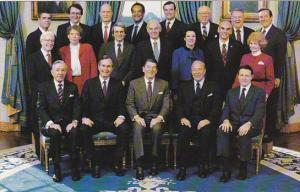 40th President Ronald Reagan With His Cabinet 1983