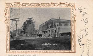 Livermore Falls ME Dirt Main Street Storefronts 1905 Postcard