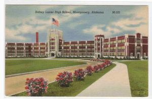 Lanier High School Montgomery Alabama linen postcard