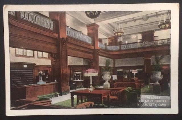 The Lobby, The Martin Hotel, Sioux City, Iowa, Hornick, More & Porterfield 1687