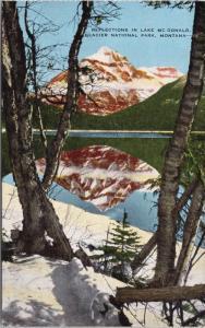 Lake McDonald Glacier National Park MT Montana Reflections Unused Postcard D69
